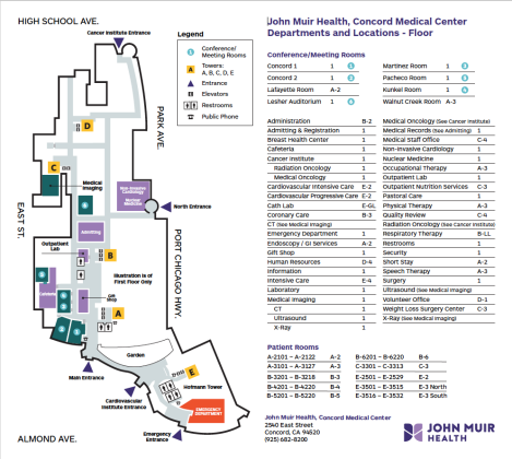 Map Of California Hospitals.Concord Medical Center